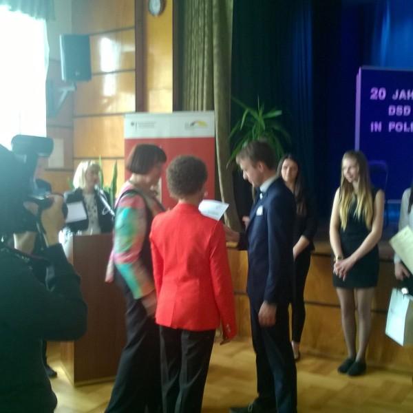 Rozdanie dyplomów DSD w Oleśnie