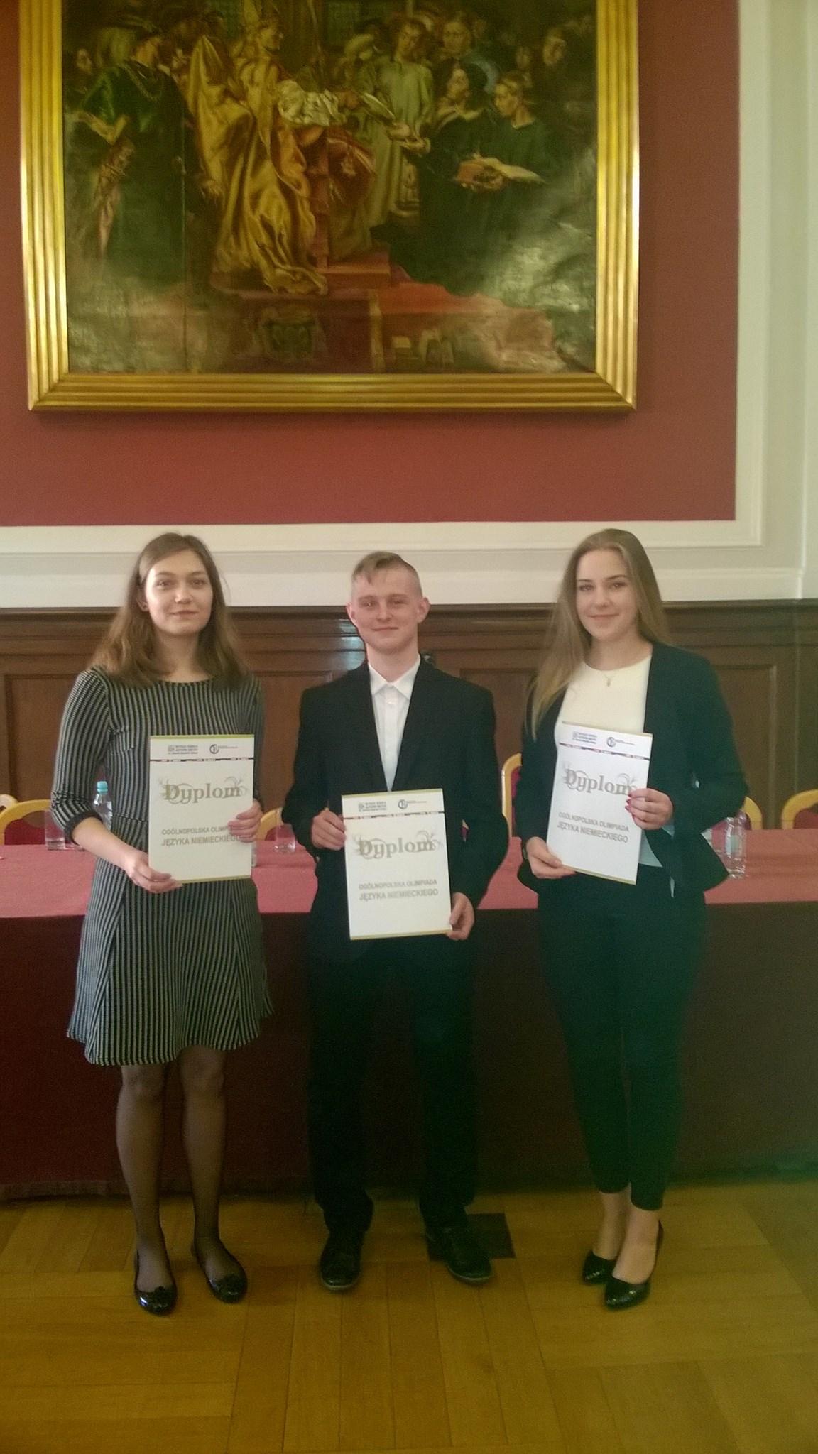 Ogromny sukces uczniów I LO w 40 Ogólnopolskiej Olimpiadzie Języka Niemieckiego