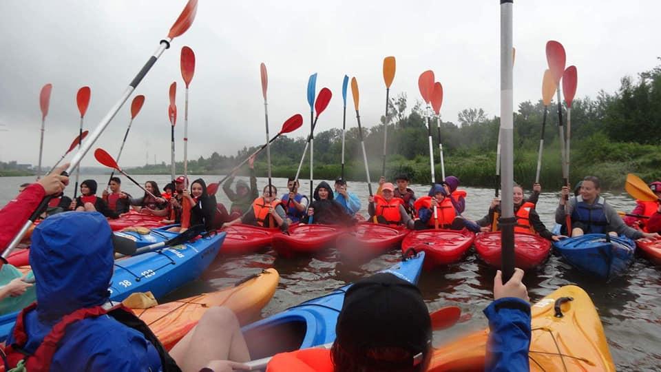 Spływ kajakowy I LO – tym razem w deszczu, 12 czerwca 2018
