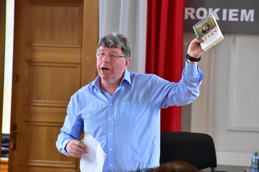 Konferencja naukowa w auli I LO, 23 maja 2018 r.