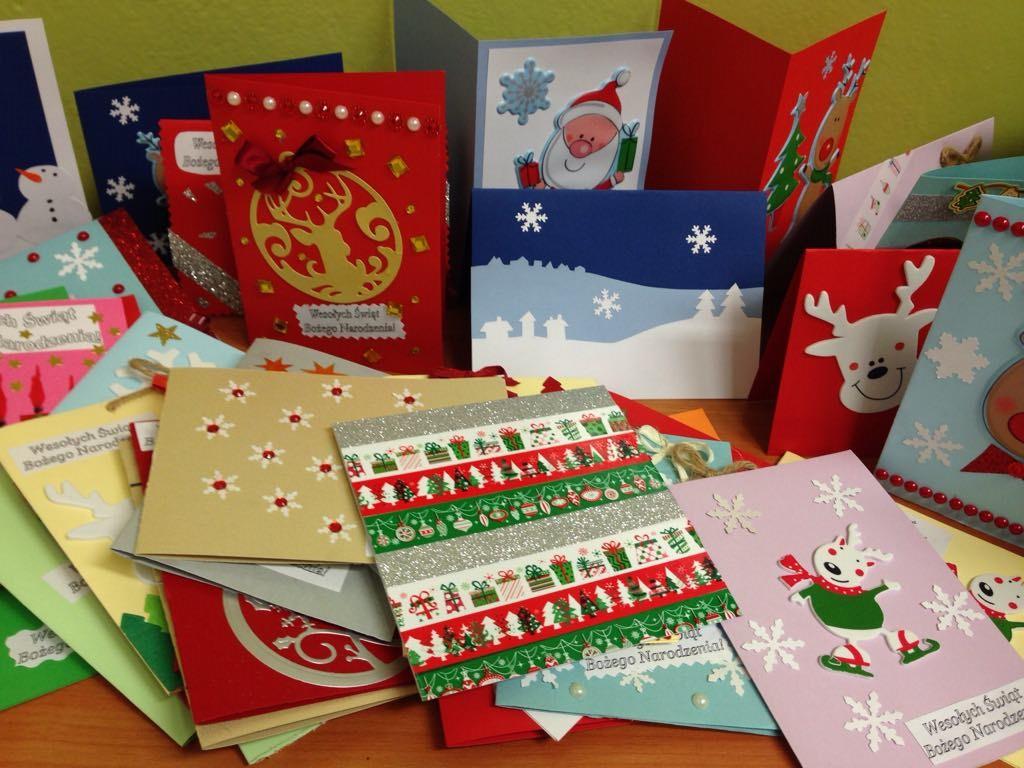 Gwiazdkowe kartki dla Dzieci: warsztaty plastyczne w I LO, 7 grudnia 2018 r.