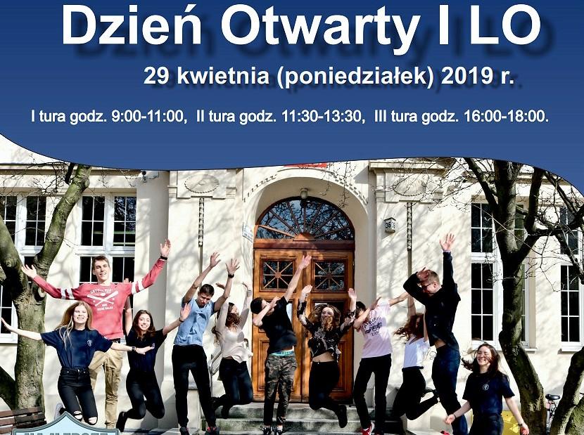 Zapraszamy do I LO 29 kwietnia 2019 r. na Dzień Otwarty!
