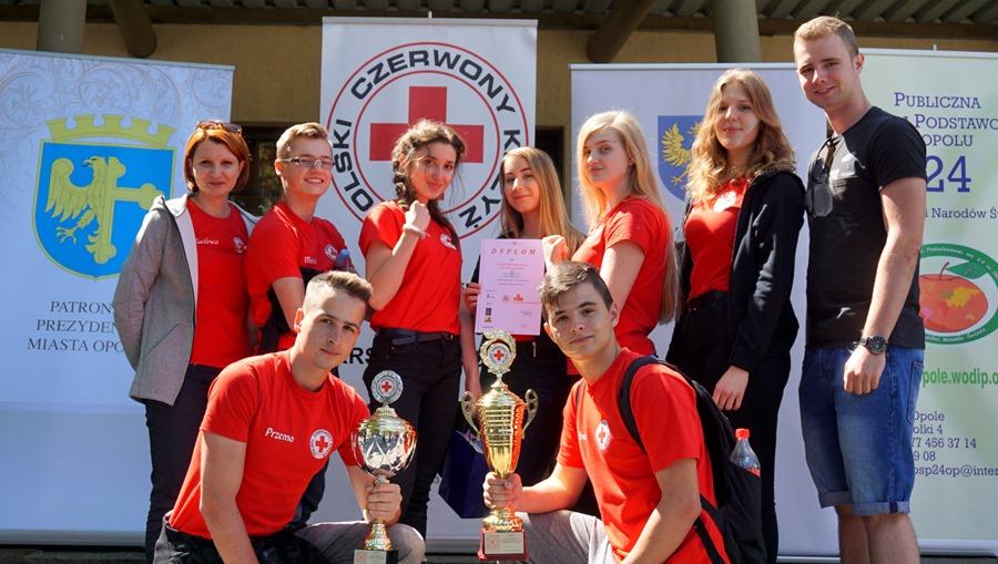 Drużyna I LO na Mistrzostwach Pierwszej Pomocy PCK w Opolu, 18.05.2019 r.