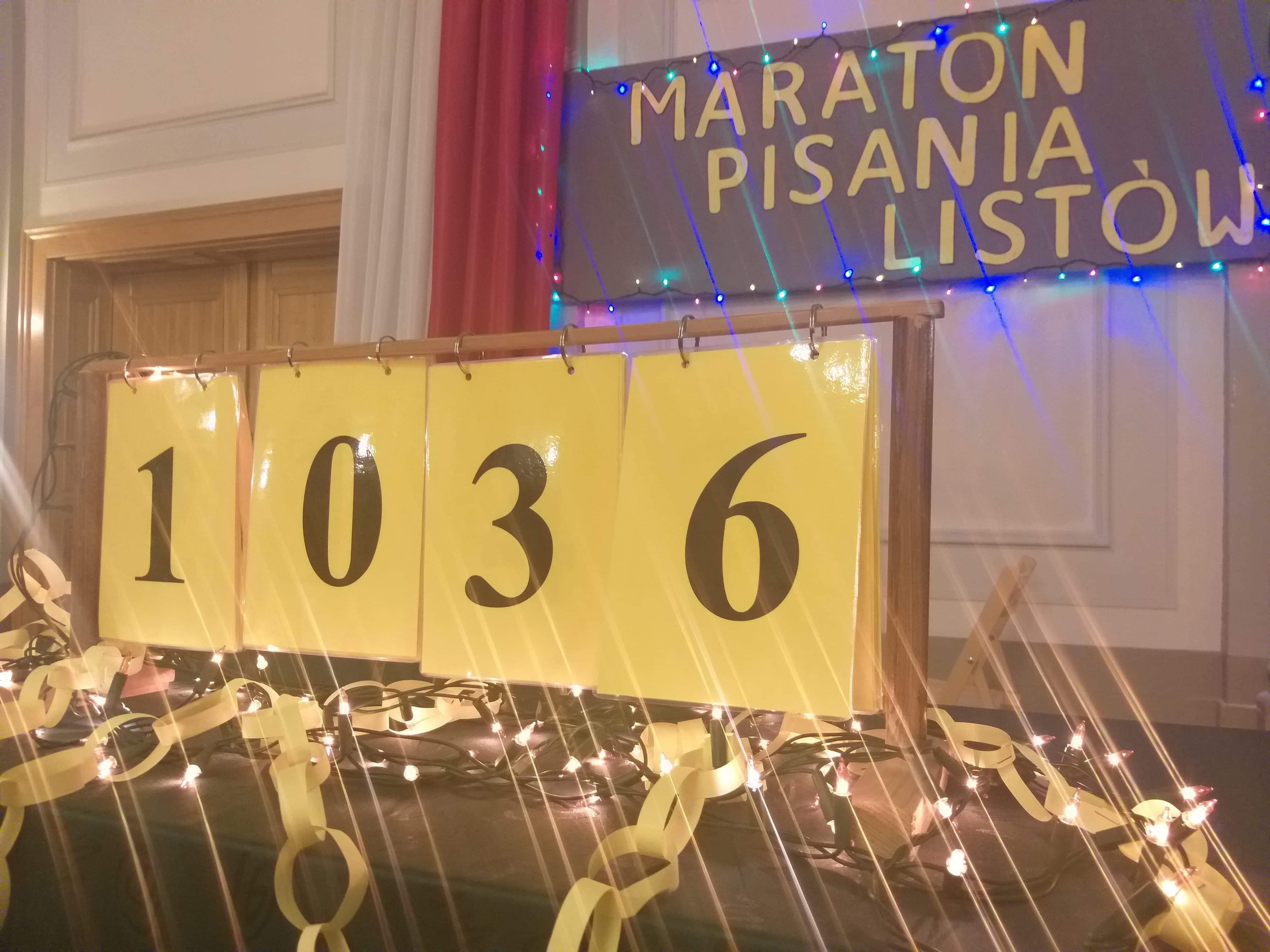 Maraton Pisania Listów Amnesty International w I LO, 13.12.2019