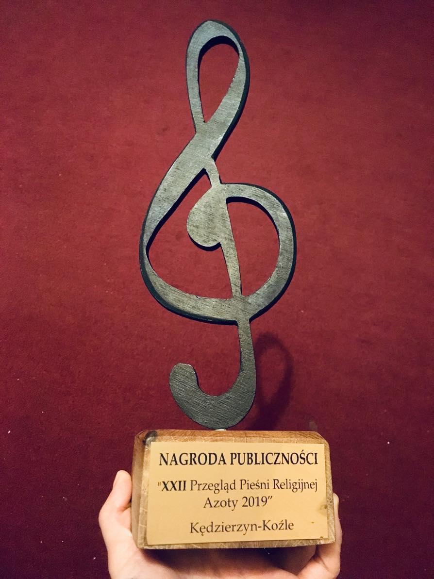 Nagroda Publiczności XXII Przeglądu Pieśni Religijnej Azoty 2019 dla chóru I LO!