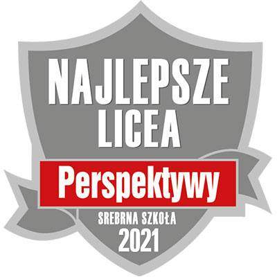 """I LO ze srebrną tarczą w rankingu """"PERSPEKTYW"""" 2021"""