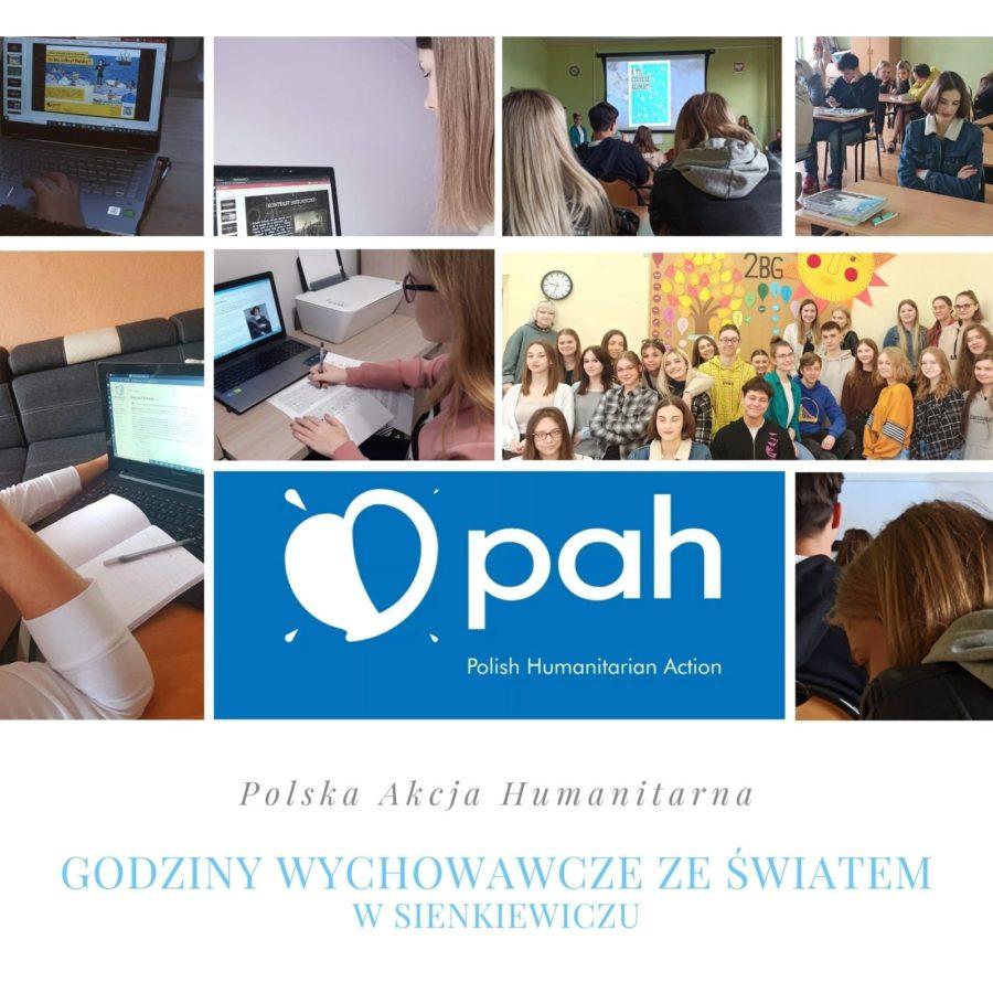 Udział klas I LO w programie PAH – Godziny Wychowawcze ze Światem