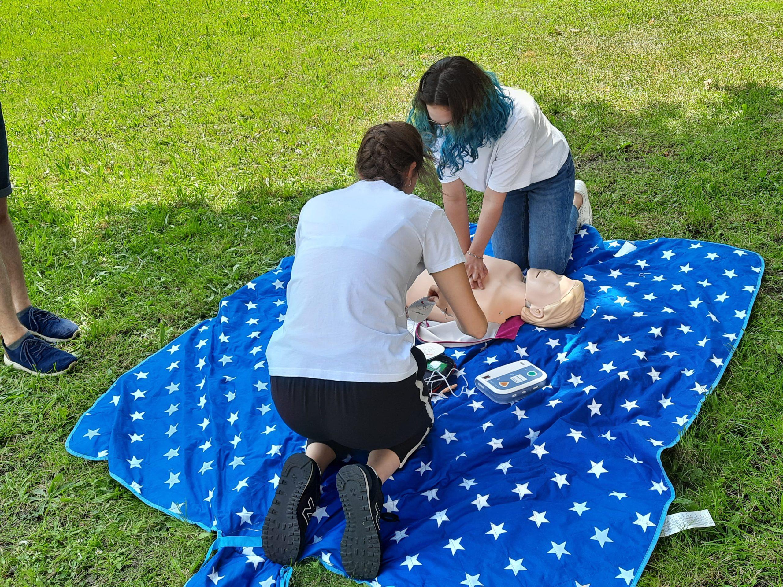 Kurs pierwszej pomocy w I LO, 16.06.2021